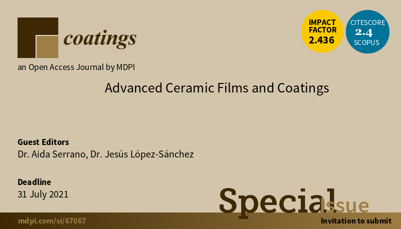 Imagen Special Issue Advanced Ceramic Films and Coatings
