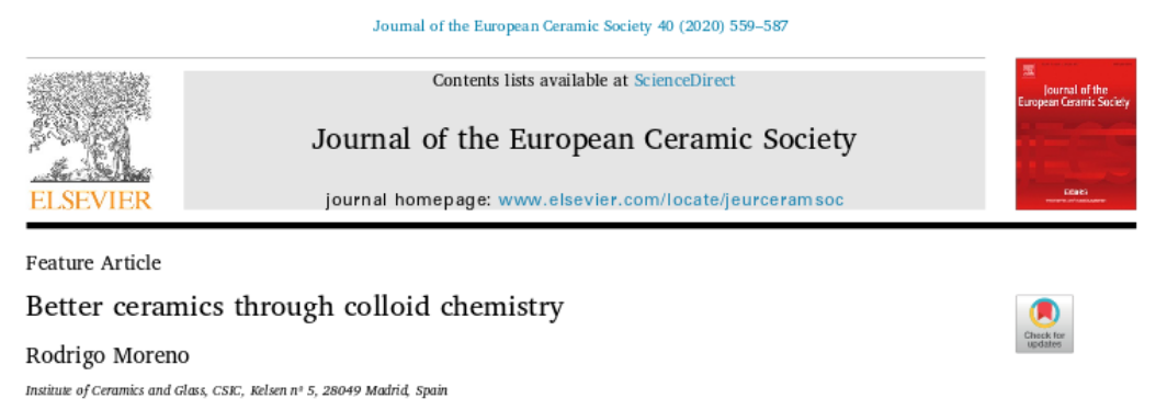 Feature Article Better ceramics through colloid chemistri