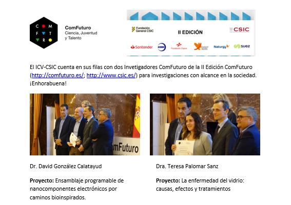 ComFuturo II Edición investigadores del ICV